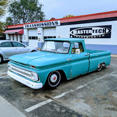 Photo of old classic car outside our Wichita transmission repair shop