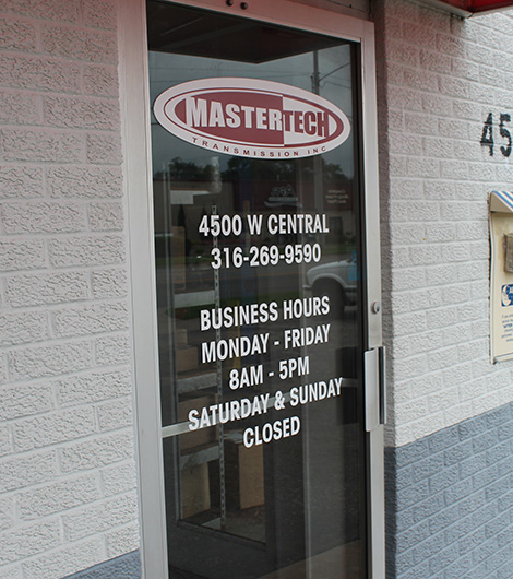 master tech front door, located on West Central in Wichita