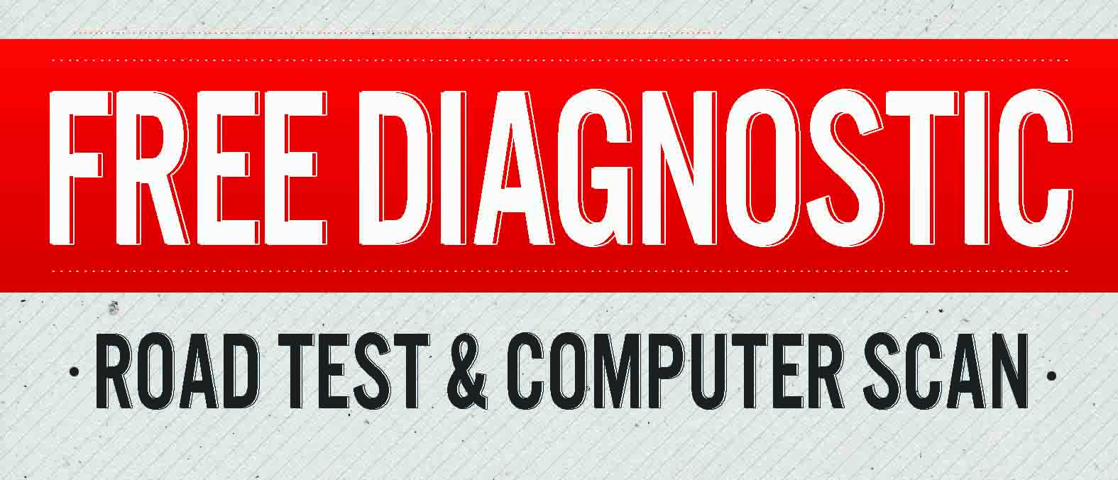 Graphic promoting the free diagnostic test Mastertech Transmissions offers at their Wichita shop