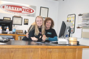 co-owner and front desk at Mastertech Transmission wichita auto shop